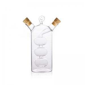 galheteiro 2 em 1 para oleo e vinagre alambique 60ml e 300ml bon gourmet