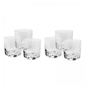 jogo de 6 copos whisky cristal trio 280ml bohemia