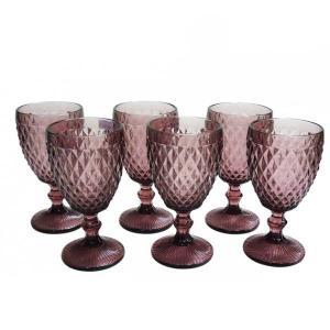 jogo de taças para água vinho verre 6 peças mimo style