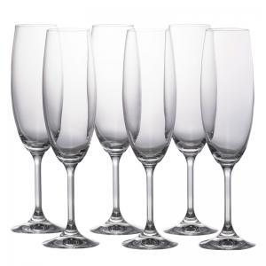 jogo de 6 taças roberta champanhe 220ml bohemia