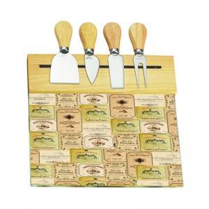 tabua de queijo com 4 facas craw