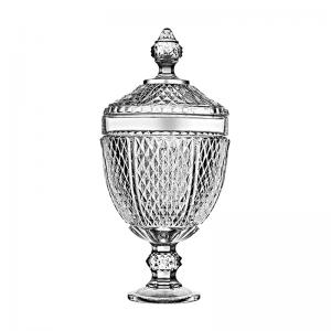 bomboniere de vidro 35cm diamond pasabahçe