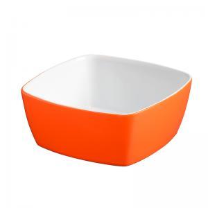 tigela quadrada laranja 12x12 cm mondoceram