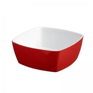 tigela quadrada vermelha 14x14 cm mondoceram
