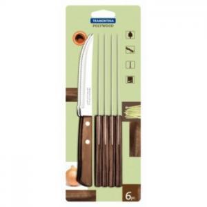 conjunto de 6 facas polywood tramontina