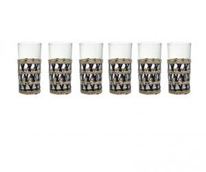 conjunto de 06 copos com rattan  craw