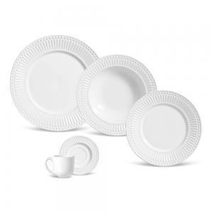 aparelho de jantar 20 peças roma branco porto brasil