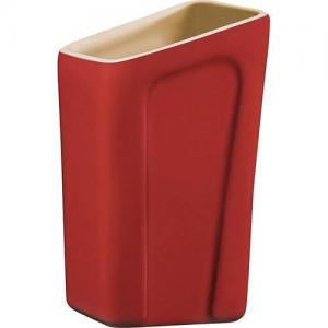 porta utensilio cerâmica vermelho tramontina design collection