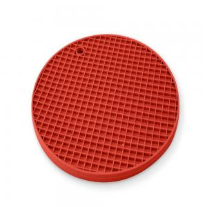 descanso panela redondo silicone vermelho mimo