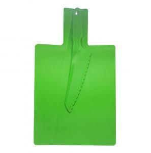 conjunto de tabua com faca plastica