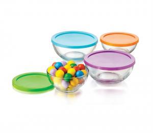 conjunto 4 bowls com tampa color crisa