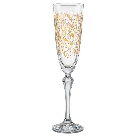 jogo de 2 taças champanhe elizabeth ouro
