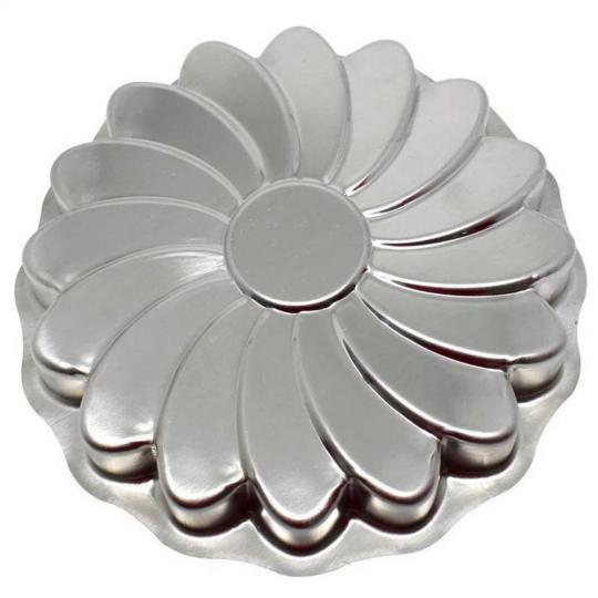 forma para bolo em alumínio girassol 25,5x3
