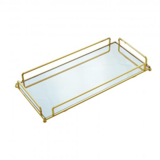 bandeja dourada 36x20cm