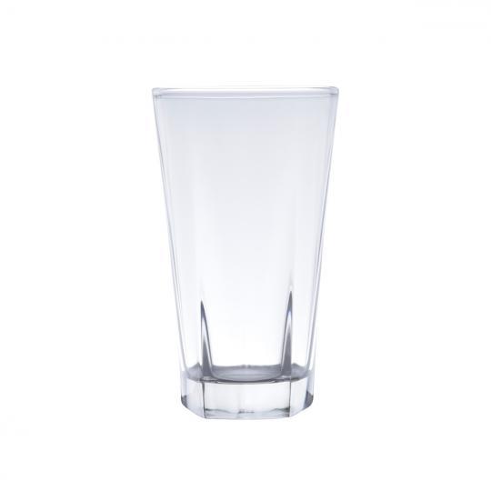 jogo 6 copos altos faces transparente 336ml