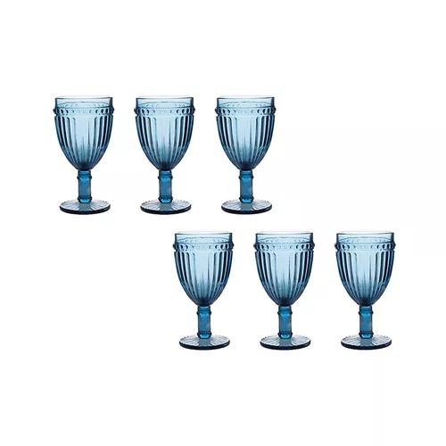jogo 6 taças  empire azul 320ml