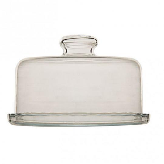queijeira vidro transparente 19cm luvidarte