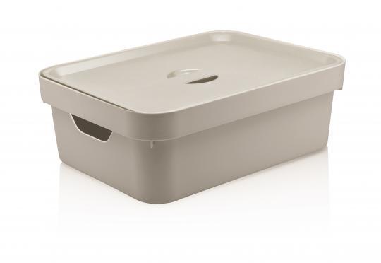 caixa organizadora cube m com tampa 10,5l ou
