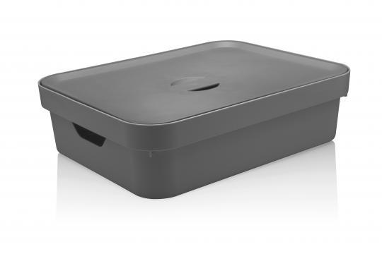 caixa organizadora cube g baixa com tampa 16l ou