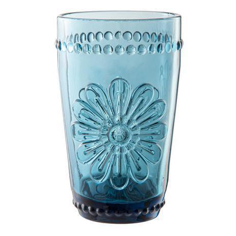 jogo de 6 copos woodstock azul 355ml l hermitage //*