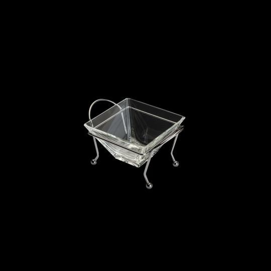 petisqueira de vidro com suporte black wolff