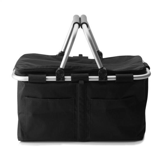 cesta de compras preta 28 cm maxwell williams