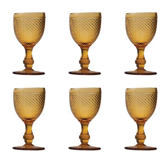 jogo 06 taças vinho imperial ambar