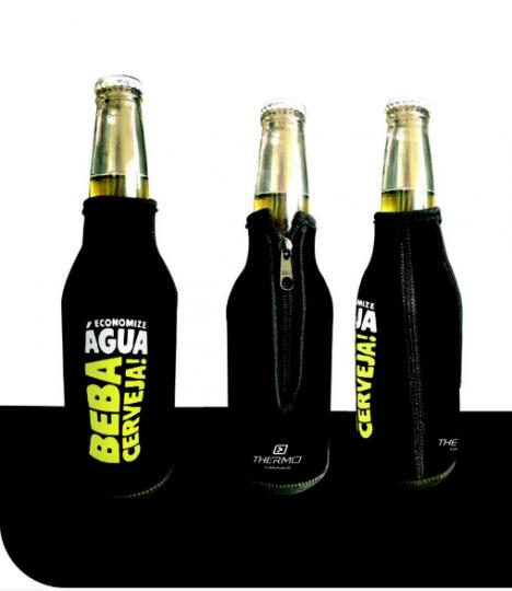 porta cerveja long neck economize água beba cerveja neoprene