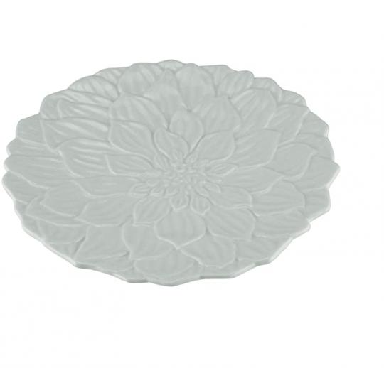 jogo 6 pratos sobremesa flor daisy branco wolff