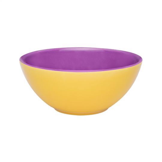 bowl 600ml amarelo/violeta oxford