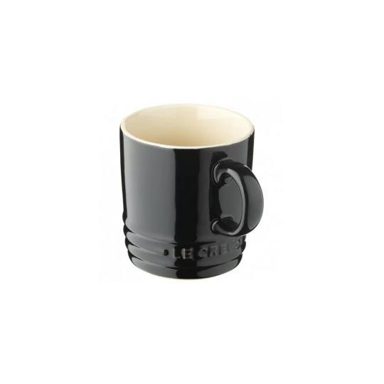 caneca de cerâmica espresso preta le creuset