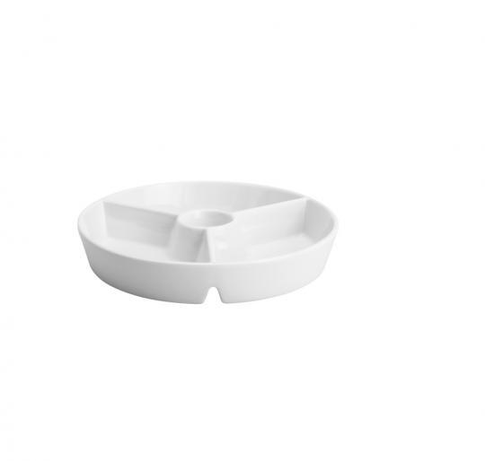 petisqueira 4 divisões de porcelana kansas
