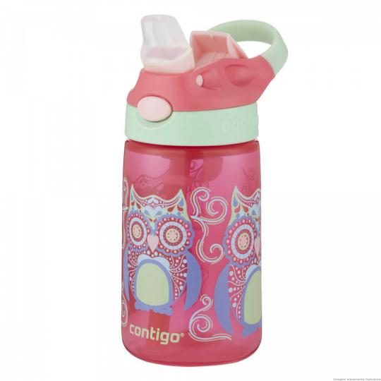 squeeze infantil flip rosa 414ml invicta