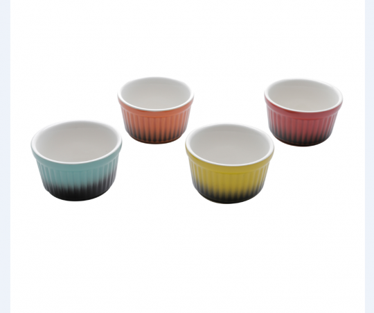 jogo de 4 bowls petisqueira color 9cm bon gourmet
