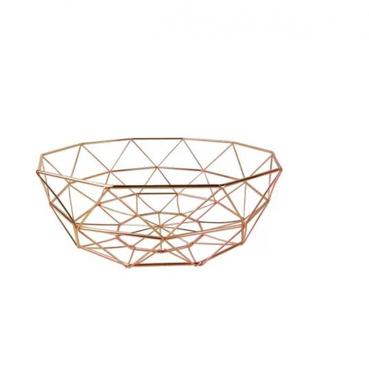 fruteira baixa rose gold 31,5x12cm