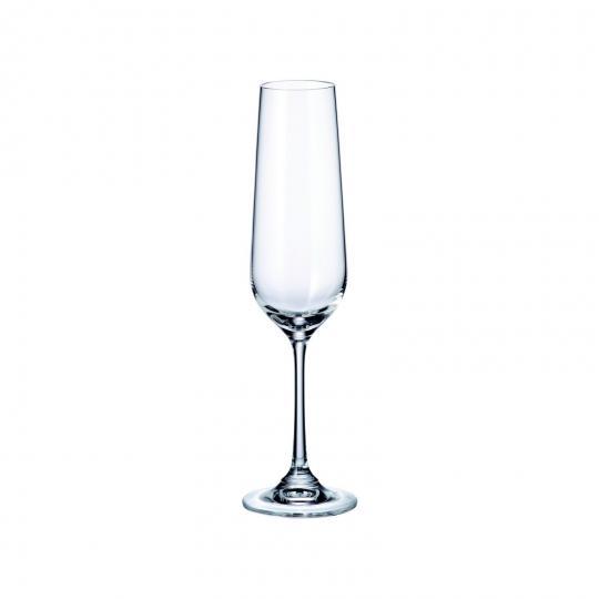 jogo de 6 taças dora para champagne 200ml bohemia