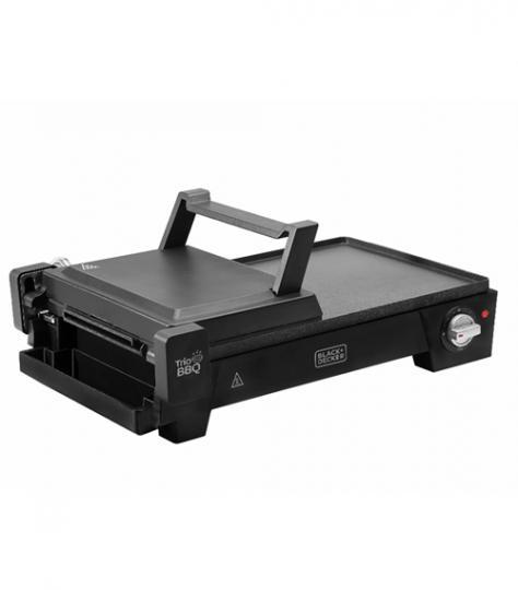 grill elétrico 3 em 1, com abertura 180° black&decker