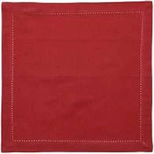 jogo 06 guardanapos tecido 43x43cm vermelho