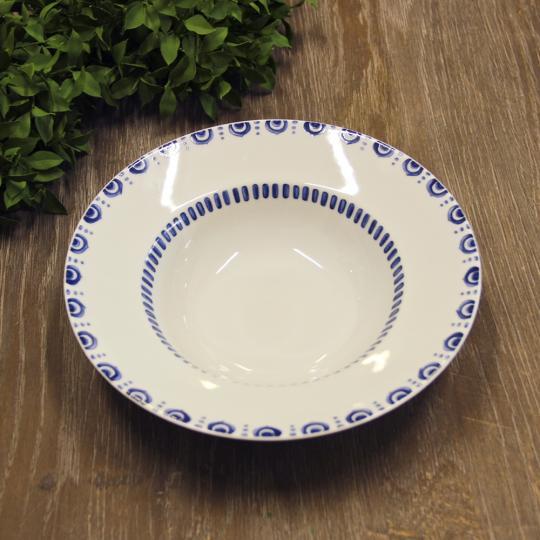jogo 6 pratos para pasta  e risotto azure lux 24cm vista alegre