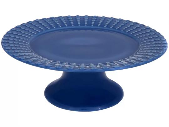 prato de bolo perles azul scalla