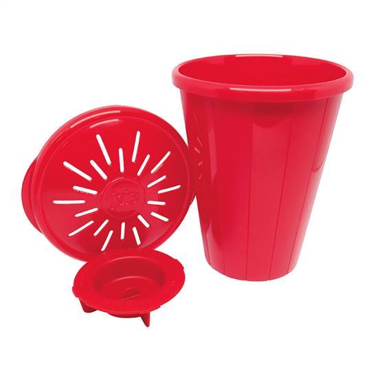 pipoqueira para microondas vermelha joie