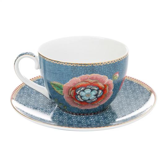 xícara de chá spring to life azul unitaria pip studio