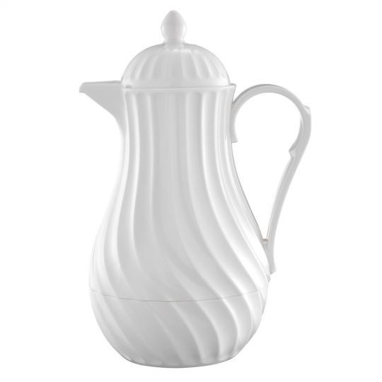 garrafa térmica plastica branca 1l