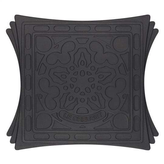 suporte silicone com imã black onix 2 peças le creuset