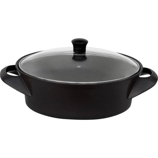 caçarola wok preta 32cm 3000ml ceraflame