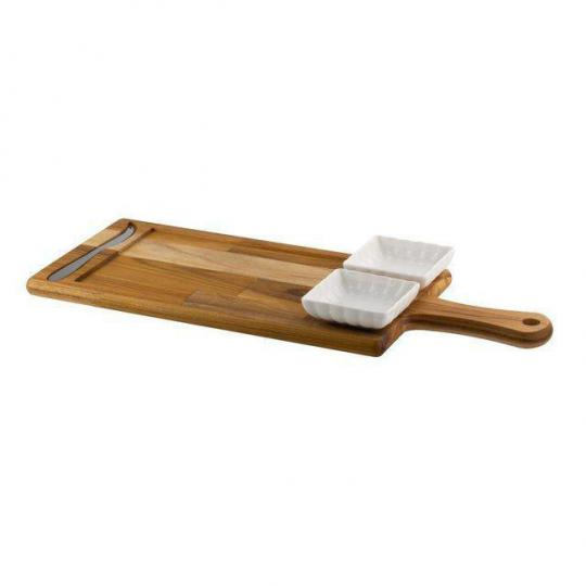 jogo de tabua com faca e 2 petisqueira woodart //*