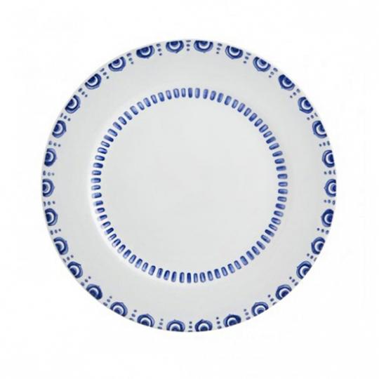 jogo 6 pratos rasos azure lux vista alegre