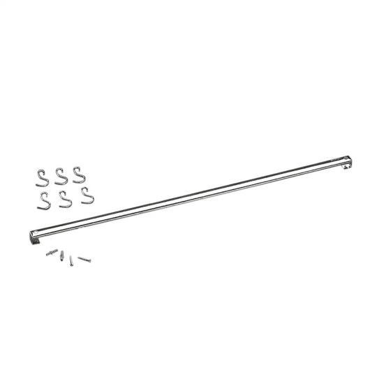 barra inox com 6 ganchos 80cm brinox