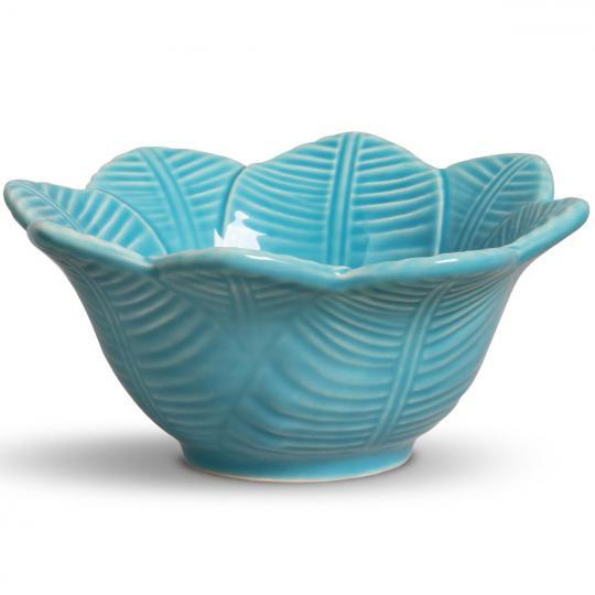 jogo 6 bowls leaves azul  porto brasil