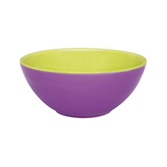 bowl 600ml violeta/verde  oxford